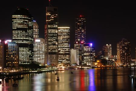 Brisbane at night  Australia  Queensland