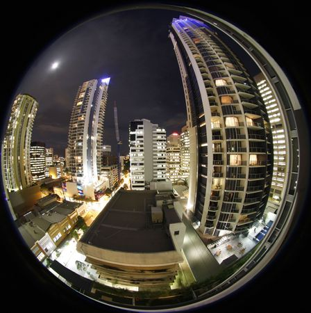 Brisbane Australi  by fish eye view