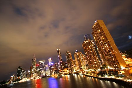City of Brisbane by night