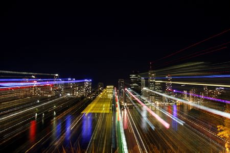 ecard: City Scape notte Abstract