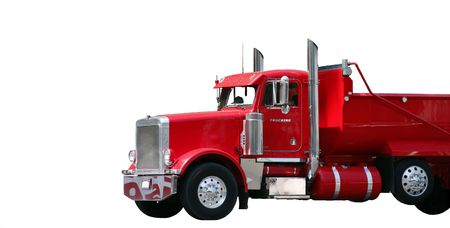 truck driver: Red Truck