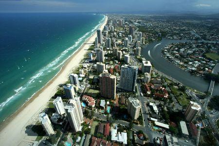 Surfers Paradise Sud Australia Gold Coast Archivio Fotografico - 4186890