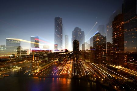 City night scape  Abstract