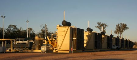 Oil and gas Industry compressor stations Stock Photo - 4309831
