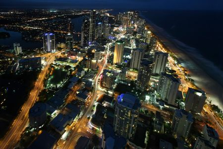 Nigh view of Gold Coast  Australia Stock Photo - 4366564