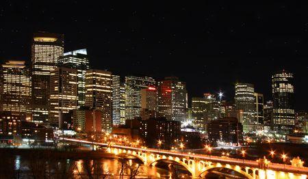 Nightscape of Calgary  canada photo