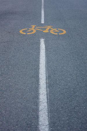 Road sign  bike way Stock Photo - 4443512
