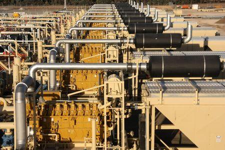 recursos naturales: Compresi�n de gas natural Foto de archivo