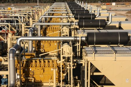 oil and gas industry: Natural gas compression Stock Photo