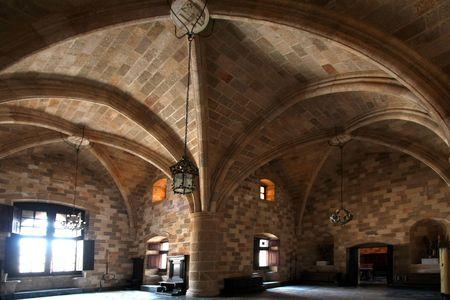 castillo medieval: Caballeros habitaci�n en castillo medieval