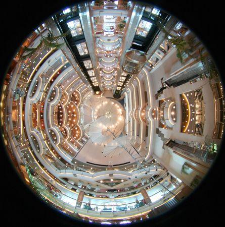 floodlit: Cruise ships interior     Lounge of a cruiseship Stock Photo