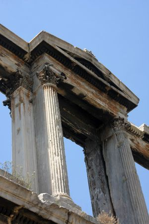 hadrian: Gate of Hadrian in Athen Greece