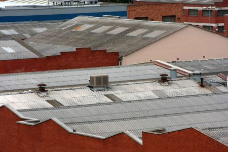 frontage: Factory rooftops