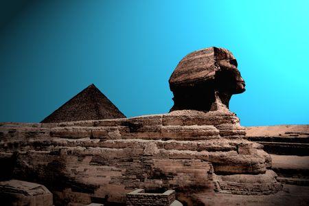 antiquities: Illustartion of the Sunrise at the pyramid