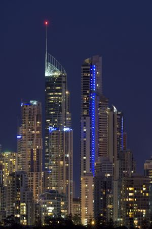 Nigh view of Gold Coast  Australia Stock Photo