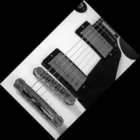 Electric guitar in B & W Stock Photo - 6152765