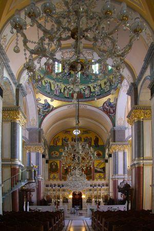 Interior of Greek orthodox Church  Editorial