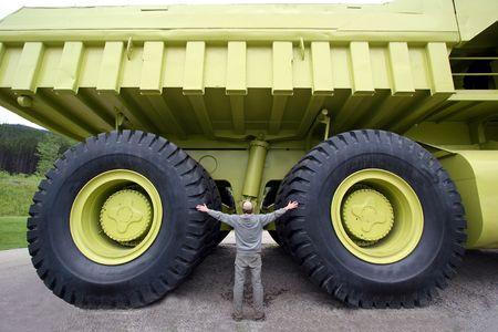 tire tread:  Dump truck
