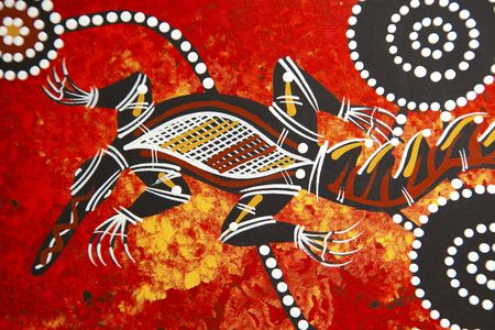 aborigen: Dise�o de estilo abor�genes de Austarlian  Foto de archivo
