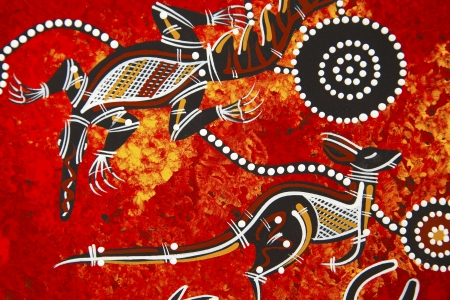 Austarlian aboriginal style design Stock Photo - 6379442
