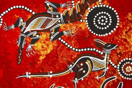 style: Austarlian aboriginal style design