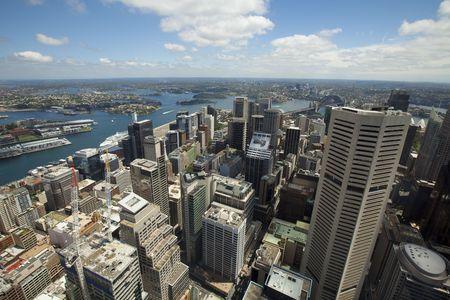 도시의 스카이 라인보기 시드니 다운 타운 뉴 사우스 웨일즈 호주