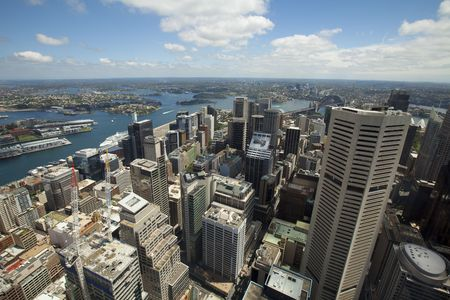 City Skyline  View of Sydney down town N.S.W. Australia