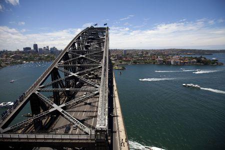 On top of the Sydney Harbor Bridge