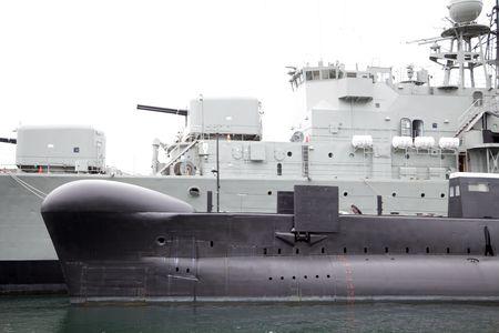 Navy Frigate and submarine