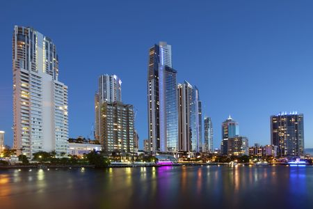 Night view of Surfers paradise  Gold coast Australia