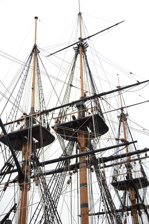 Masts of a tall ship.     Stock Photo - 6751299