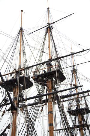 Masts of a tall ship. Stock Photo - 6751299