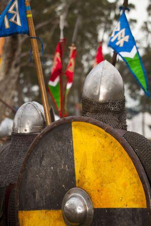 Solders un movimiento en la época medieval  Foto de archivo - 7424500