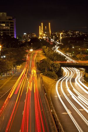 City of Brisbane at night photo