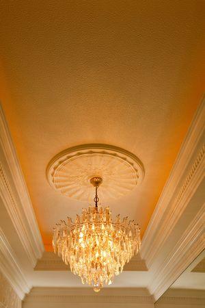 Elegant crystal chandelier  photo