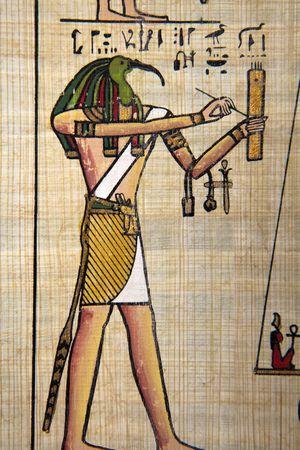 scribes: Papiro egiziano antico immagini.  Archivio Fotografico