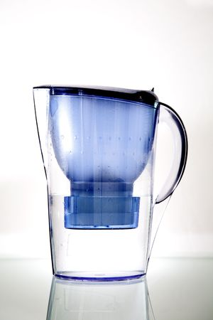 Jug with the water-purifying filter - closeup isolated on white Stock Photo - 7826957