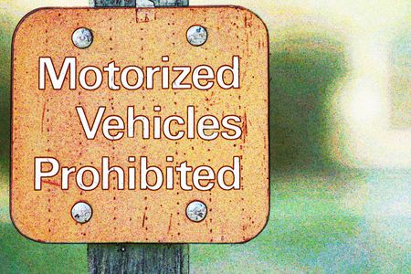 Motorized Vehicles Prohibited - Sign  Reklamní fotografie