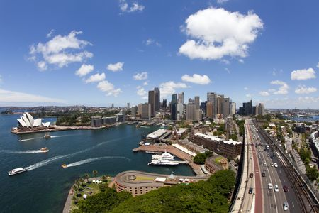 sydney harbour bridge: View of Sydney Stock Photo