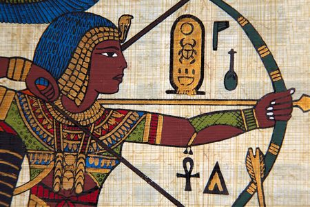hieroglyph: Antique egyptian papyrus and hieroglyph