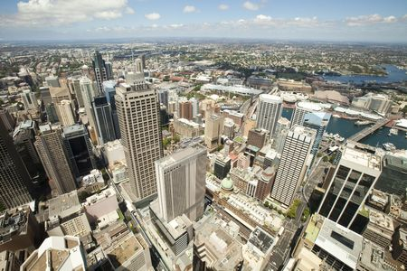Aerial view from Sydney Tower looking towards the western suburbs of Sydney Australia Stock Photo - 8189909