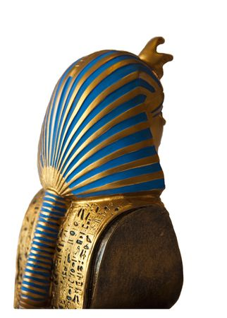 Egyptian pharaoh miniature  - rear view