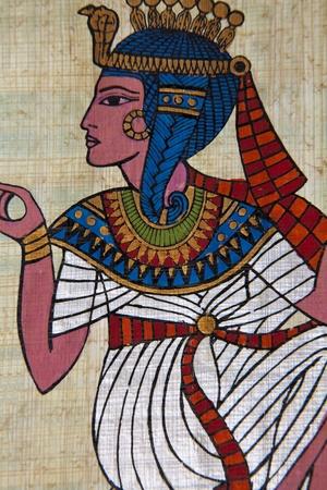 Jeroglíficos y papiro egipcio antiguo  Foto de archivo - 8877961