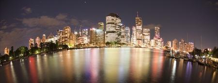 Brisbane night city view, Queensland Australia