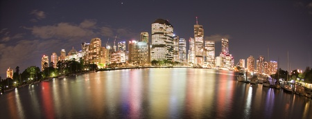 Brisbane night city view, Queensland Australia Stock Photo - 8878128