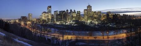 Nightfall in Calgary  Alberta Canada photo