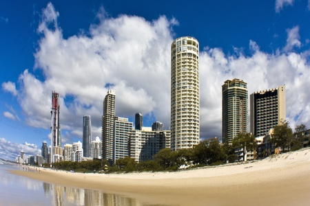tallest: Apartment buildings some are the tallest residential building in the world - Surfers Paradise in Gold Coast of Queensland, Australia  Stock Photo