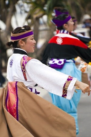 Group of women dancing during  Japan and Friends in Surfer Paradise Australia  Street festival Stock Photo - 13061999