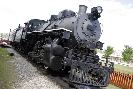 forest railway: Speeding locomotive  Stock Photo