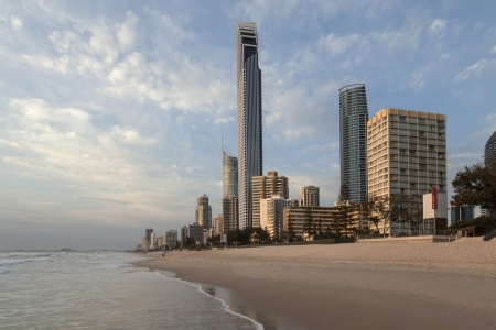 Sunny morning at the beach, Gold Coast, Australia  Stock Photo - 17055664